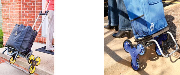 Carritos de compras 6 ruedas para subir escaleras