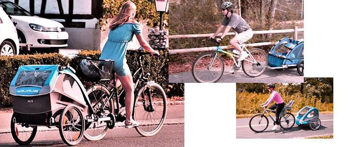Carritos para bicis portaniños