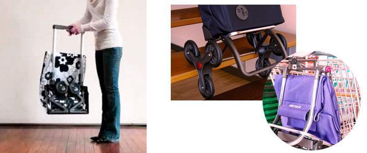 Carro de compra plegable 6 ruedas