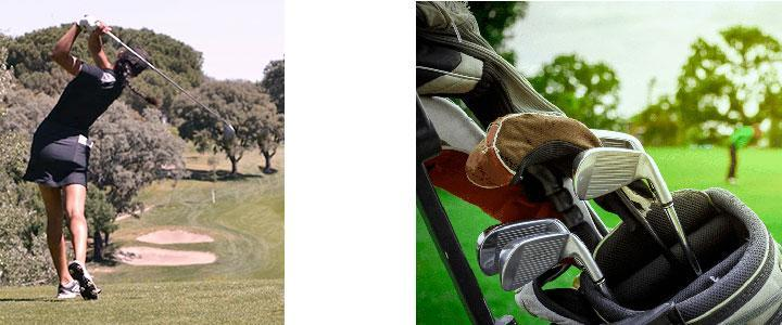 Carro de golf manual plegable