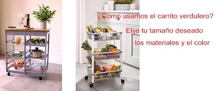 Carro de verduras para la cocina y para almacenar fruta