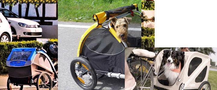 Remolque de perros para bici